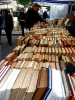 Old book market and photo of my cat 古書市と猫の写真